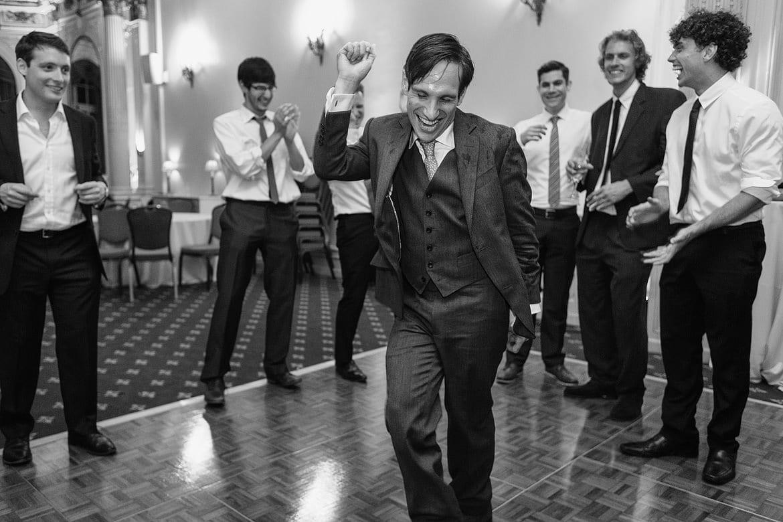 the groom takes to the dancefloor