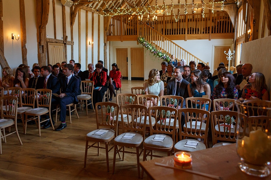 guests wait in the ceremony room