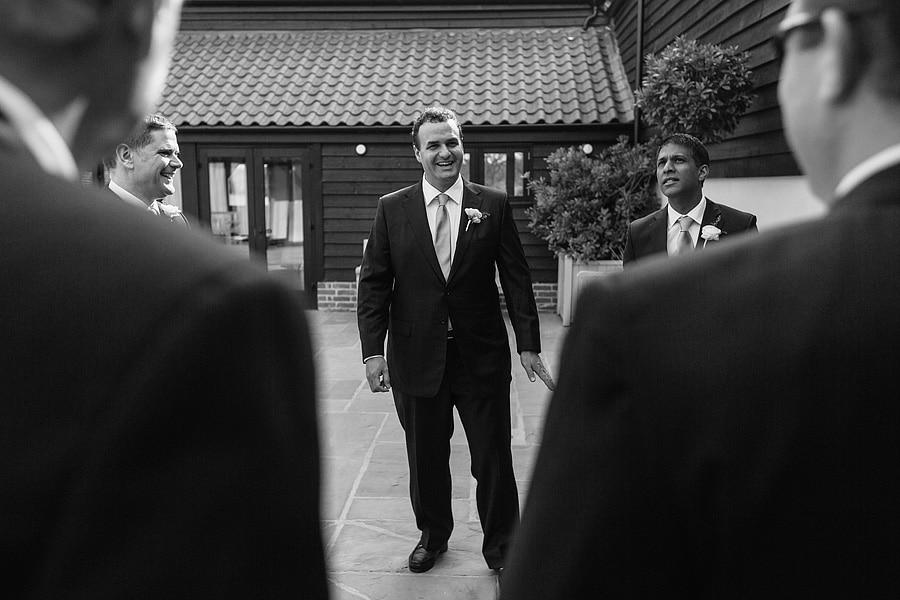 the groom looking nervous