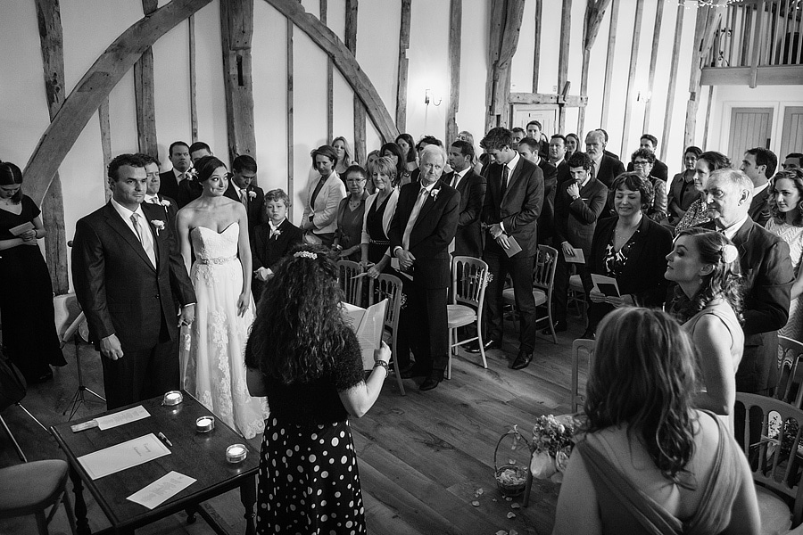 the ceremony room at bruisyard hall