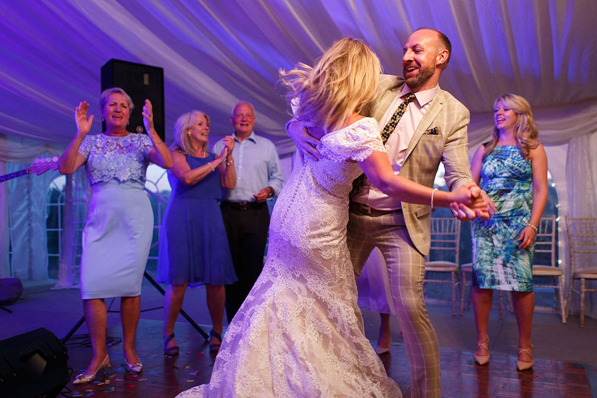 laura dances with a guest