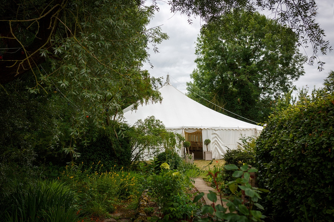 a marquee at a family home for a norfolk wedding