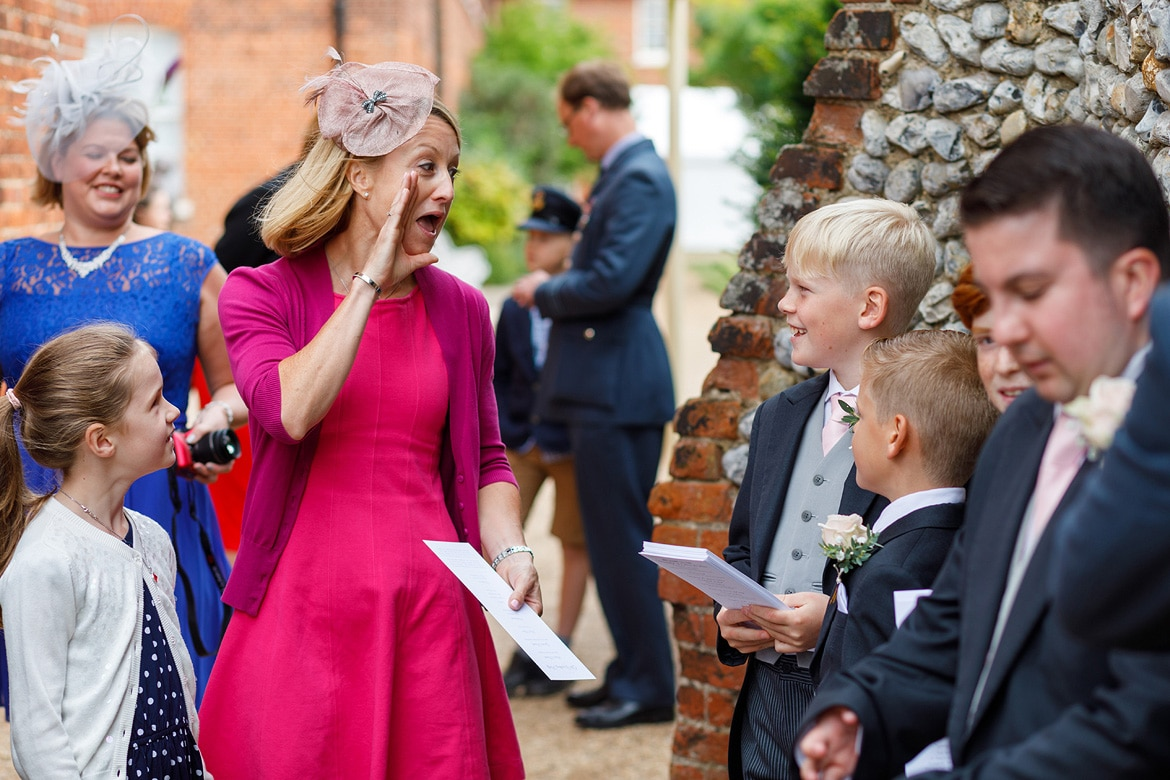 guests outside the gressenhall chapel