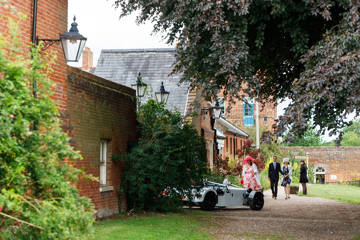 guests arriving at gressenhall
