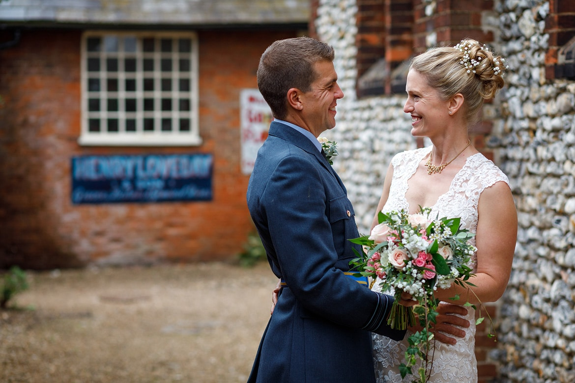 a couple portrait behind the chapel at gressenhall