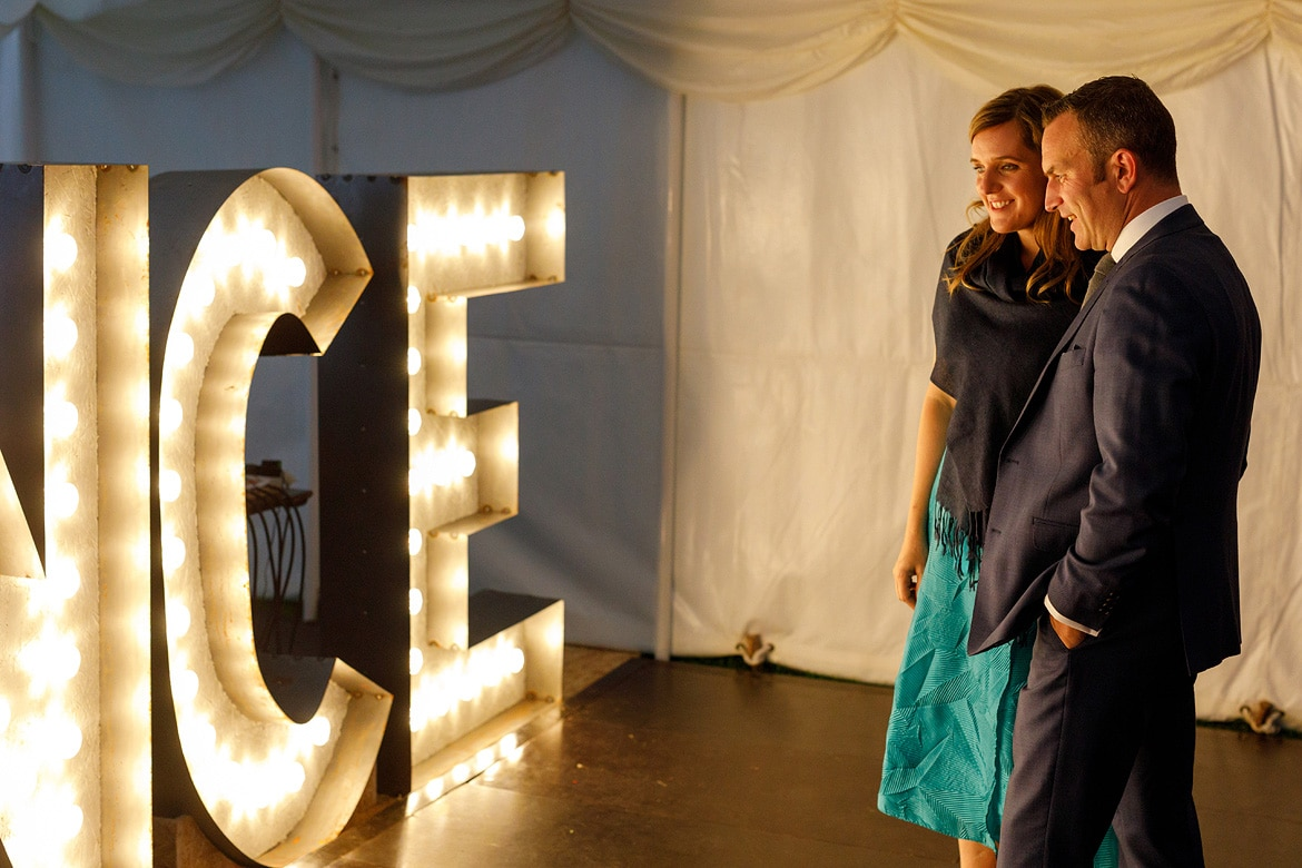 some guests admire bens lighting