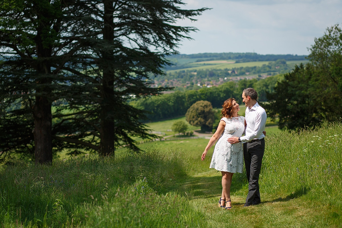 the couple looking down hedsor hill