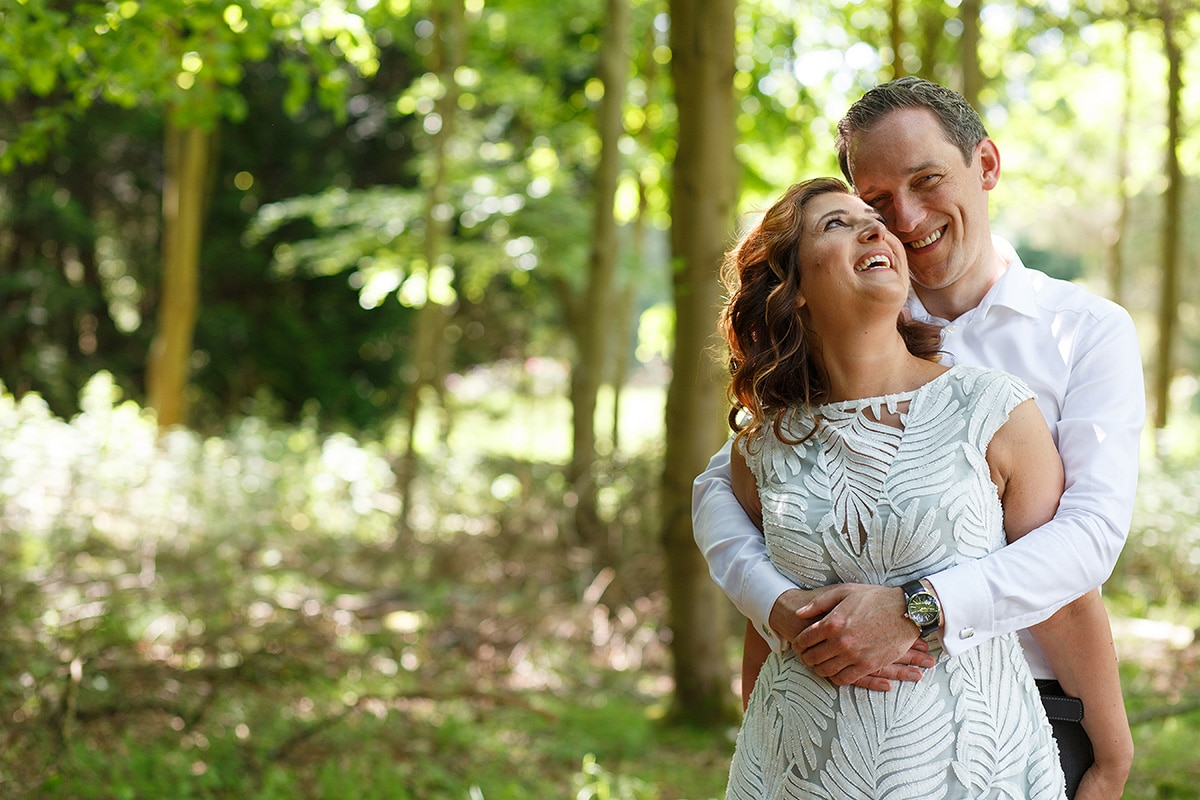 engagement photos in the woods at hedsor house