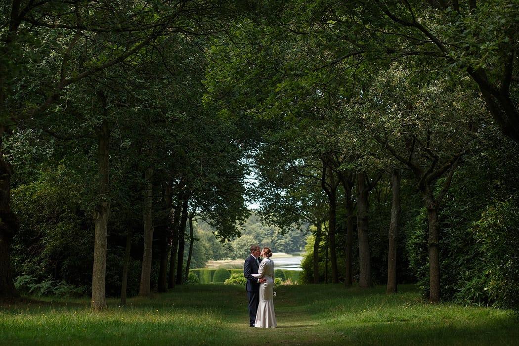 wedding couple at blickling hall