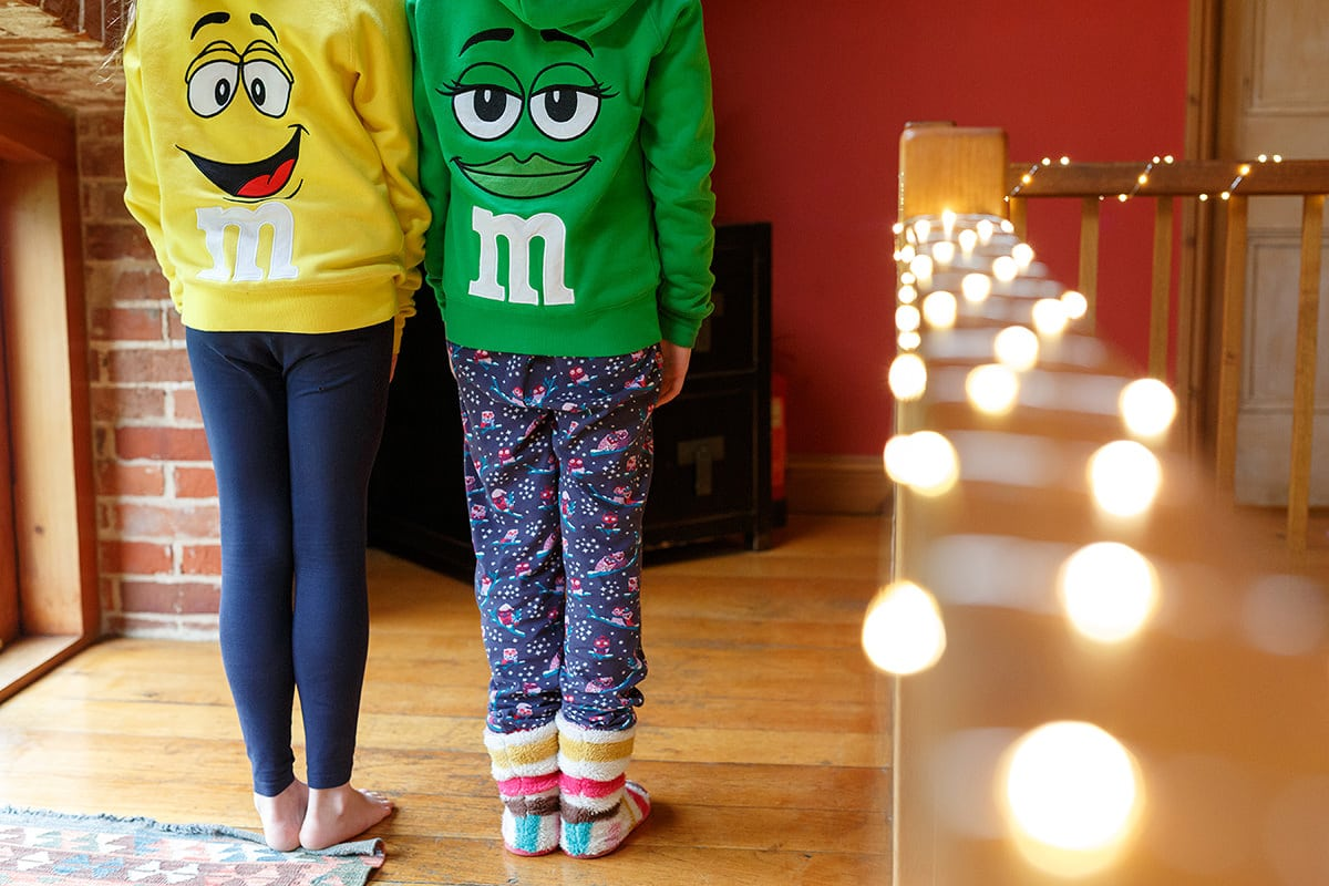 flowergirls in m and m jumpers