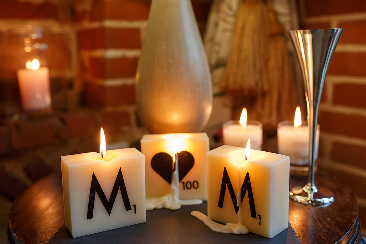 m and m candles