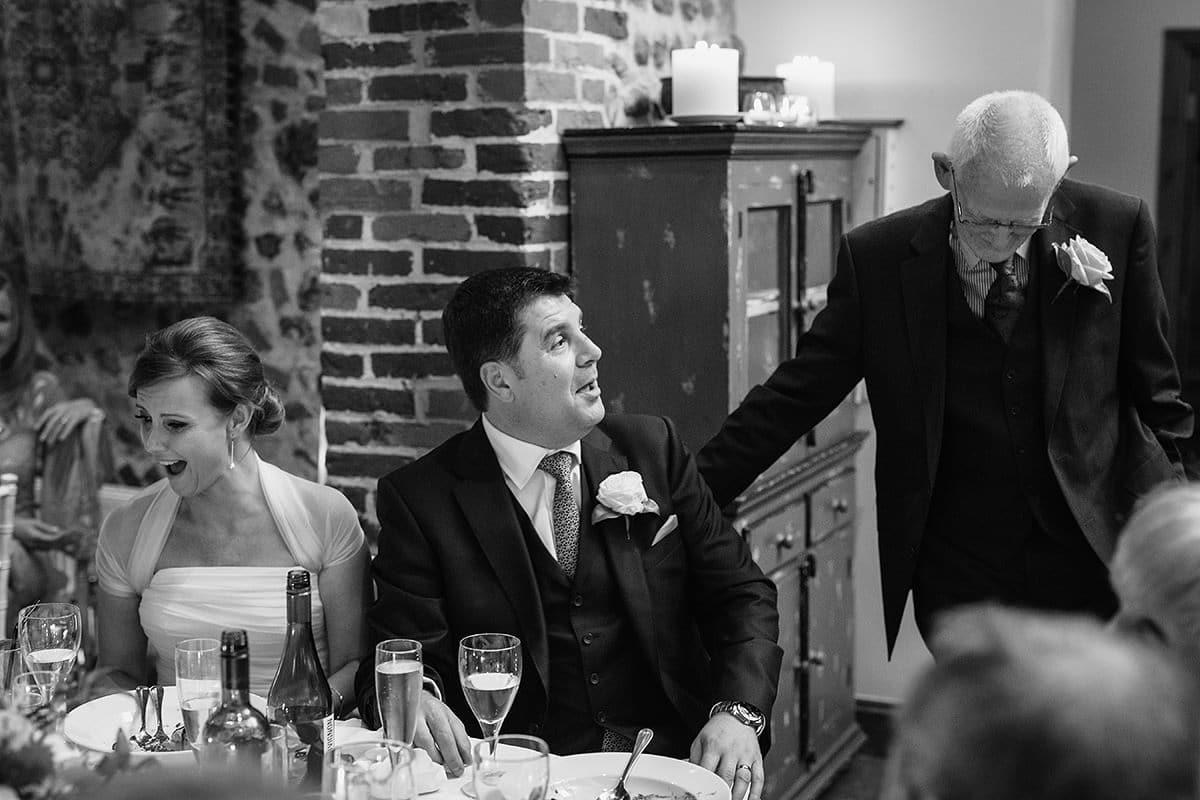the groom takes issue with one of the points