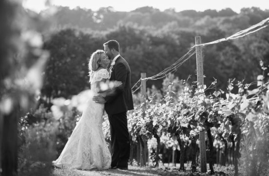 laura and todd at their bluebell vineyard wedding