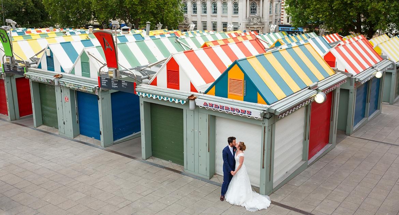 wedding portrait at norwich market