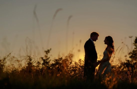 a sunset photos at anna and toms suffolk wedding