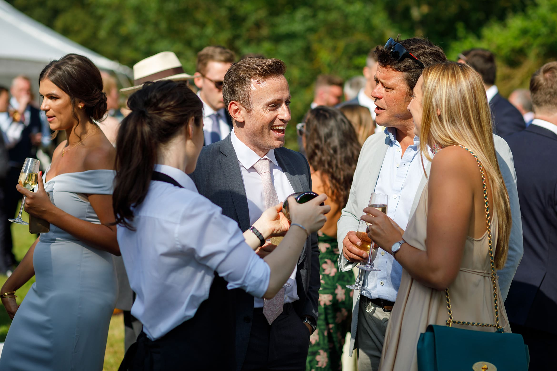 wedding guests at a summer solstice wedding