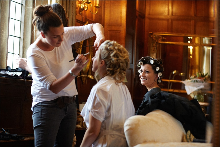 Brides preparations at Hengrave Hall
