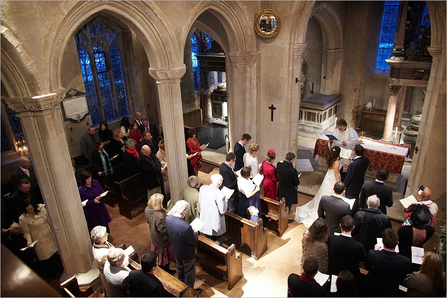Ceremony in the church at Hengrave