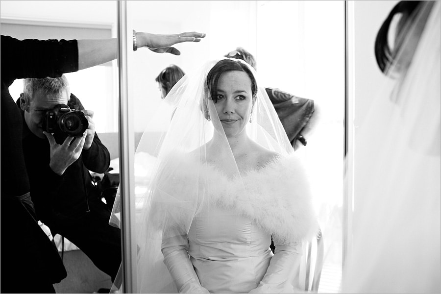 photographing bride getting ready