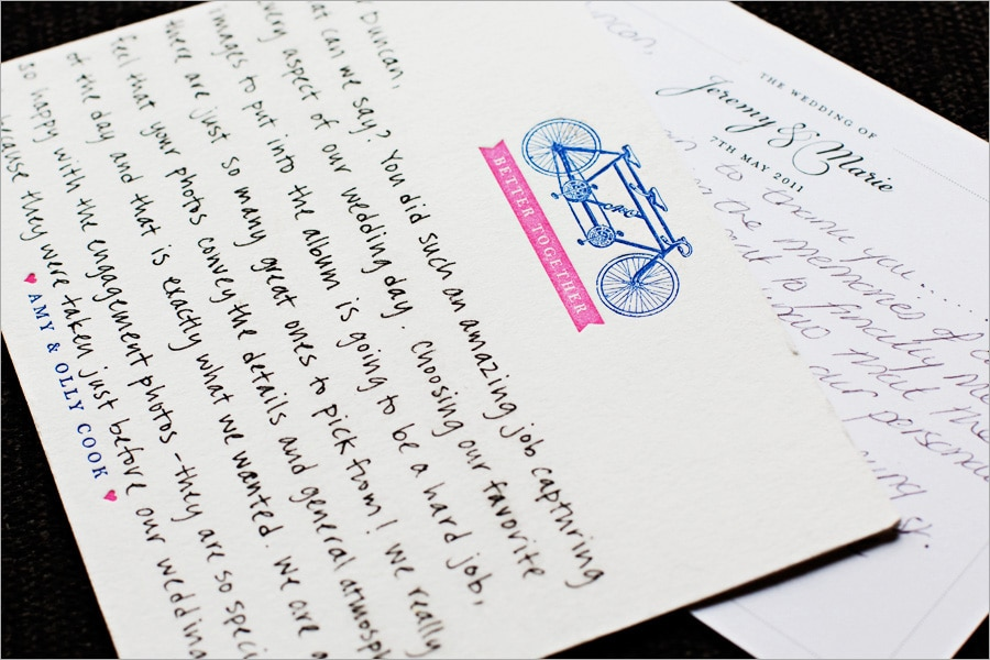 Some More Thank You Cards Norfolk Wedding Photographer Duncan