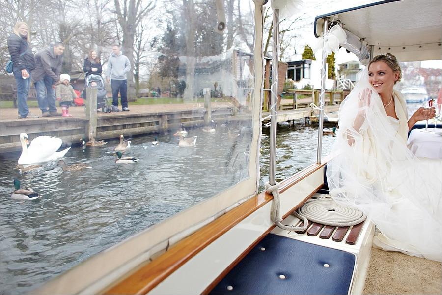 wedding on the thames at the compleat angler
