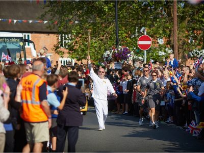 The Olympic Torch in Norfolk