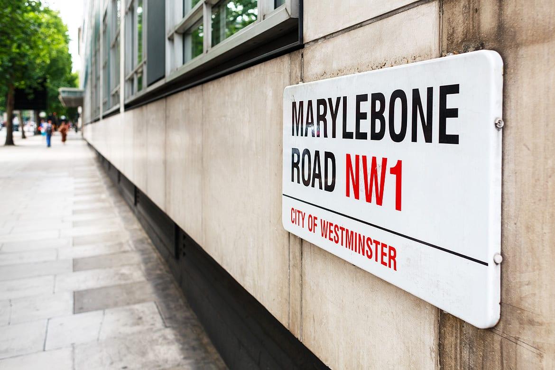 marylebone road street sign