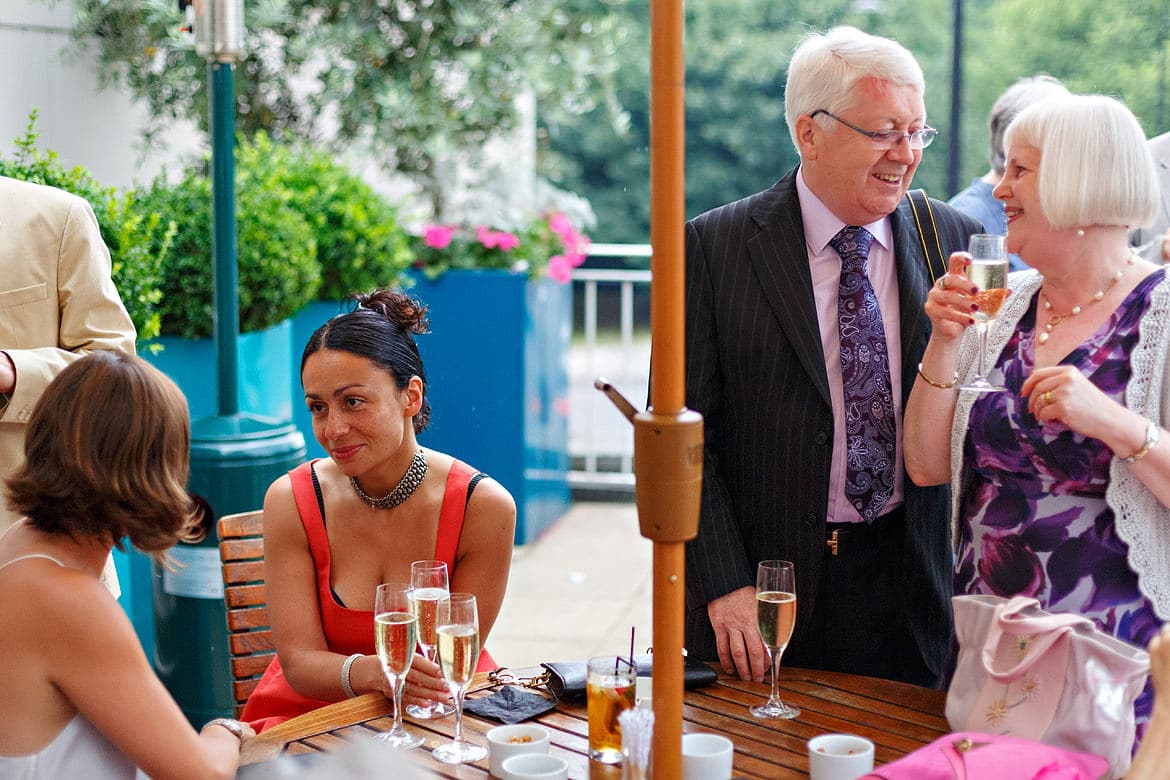 guests enjoying cocktail hour