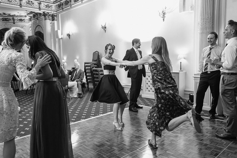 some energetic dancing at the royal aeronautical society