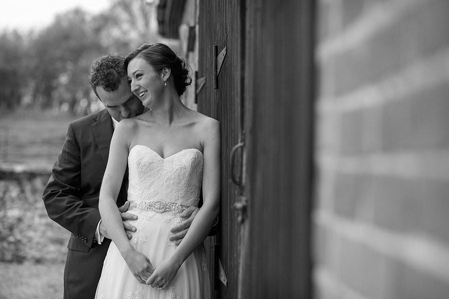 a couple portrait at a bruisyard wedding