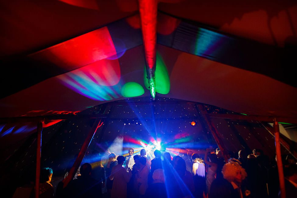 laser lightshow during the dancing in the tipi