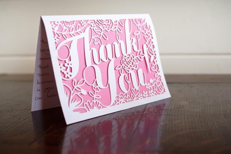 Wedding photography thank you card