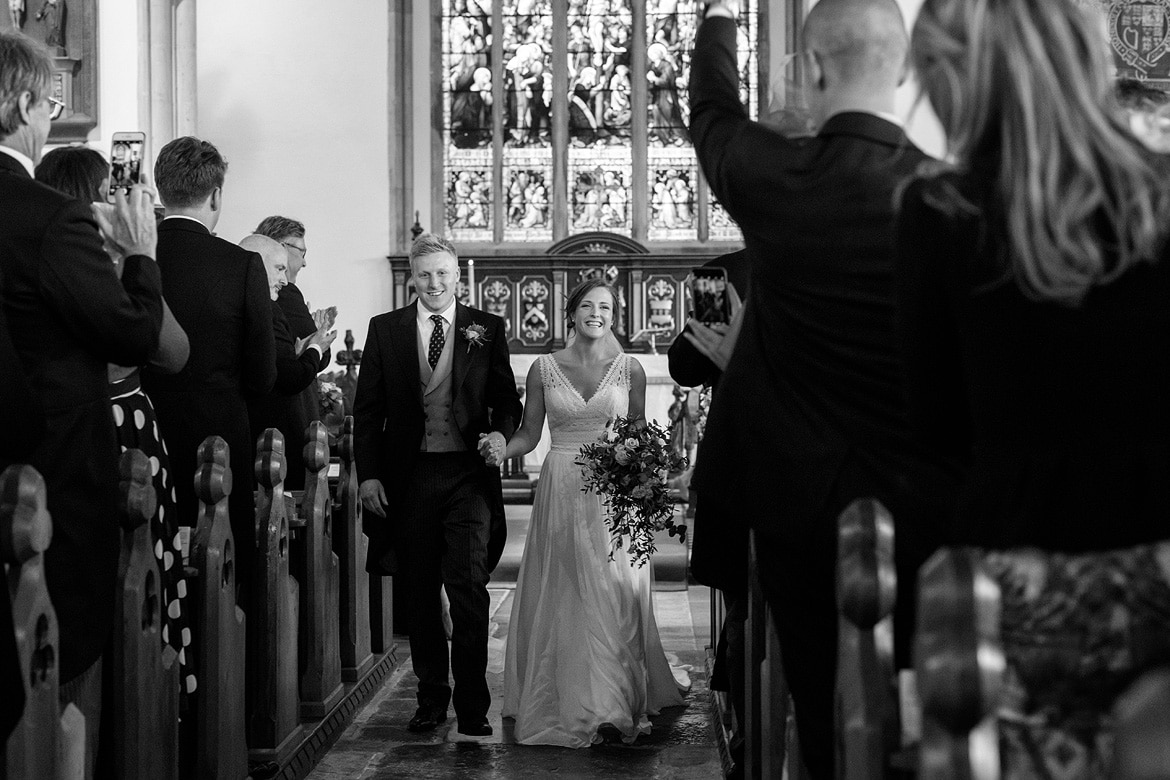 walking down the aisle of aldeburgh church
