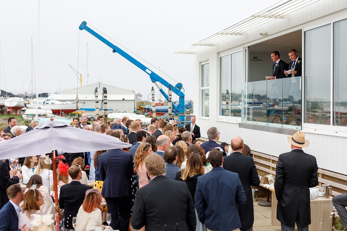 wedding speeches at aldeburgh yacht club