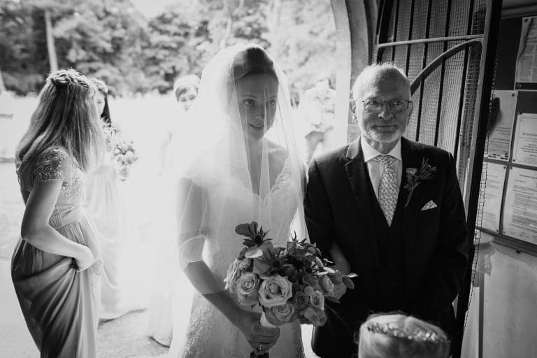 bride and her father at an assembly house norwich wedding