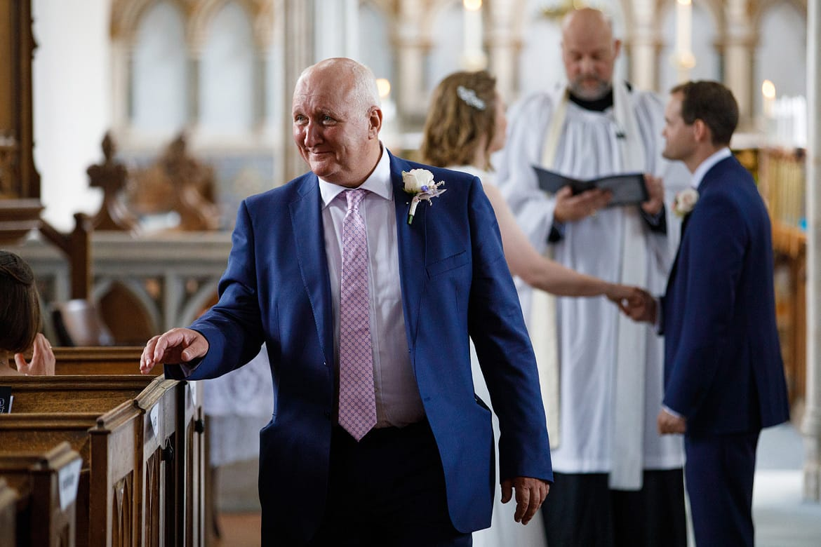 a tearful father of the bride