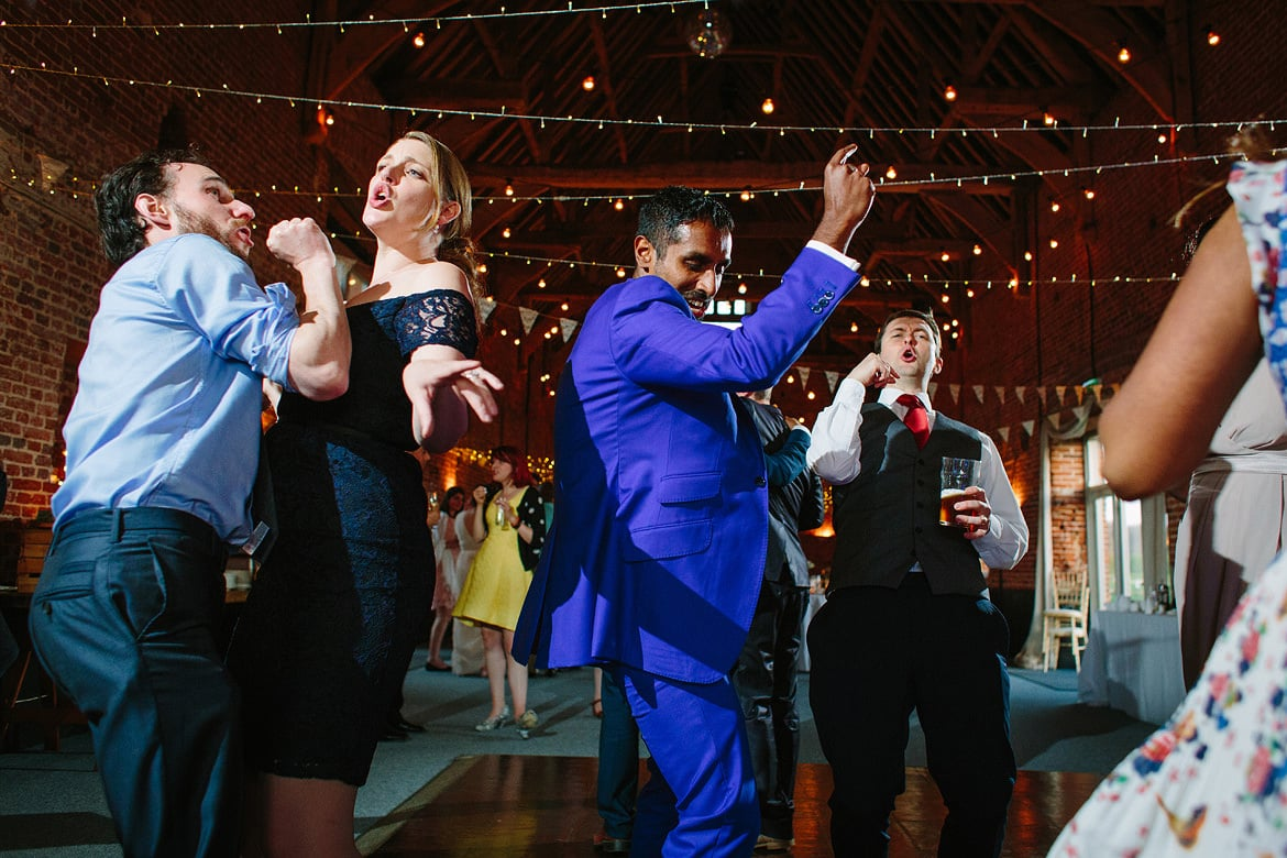 guests dancing at a godwick hall wedding
