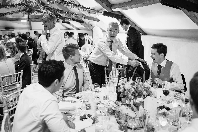 wedding guests at pennard house
