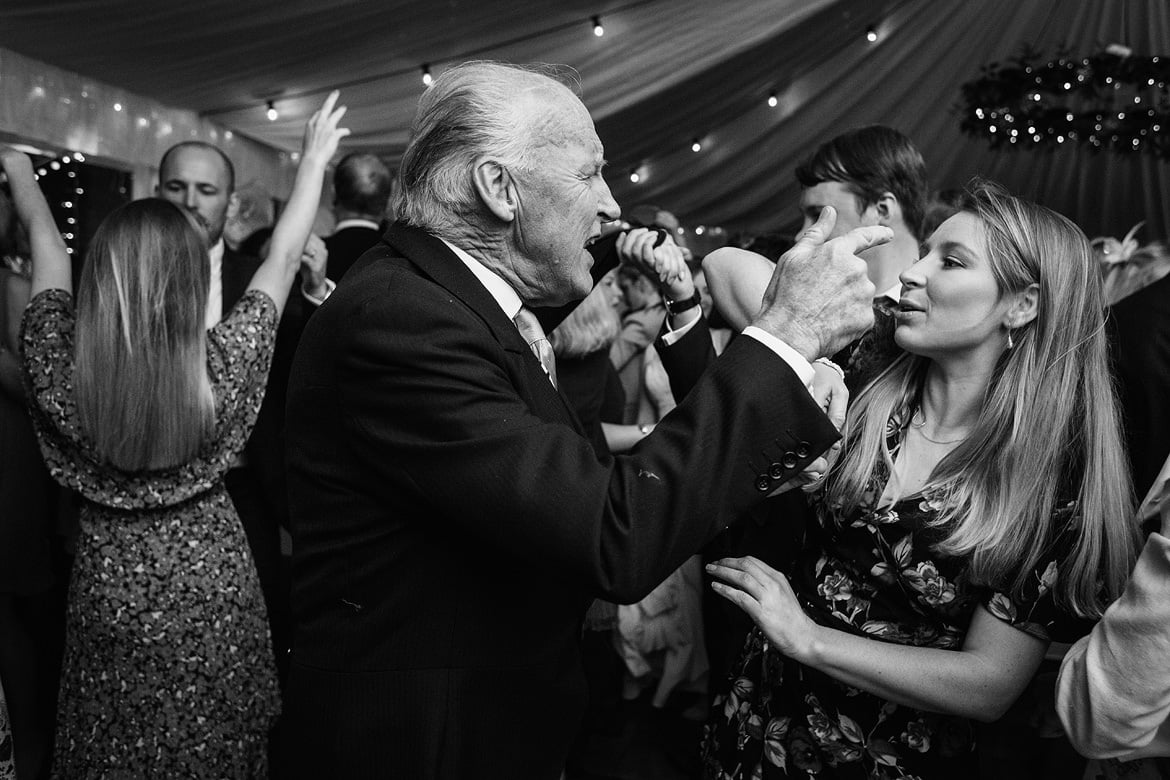 wedding guests on the dancefloor at an aldeburgh wedding