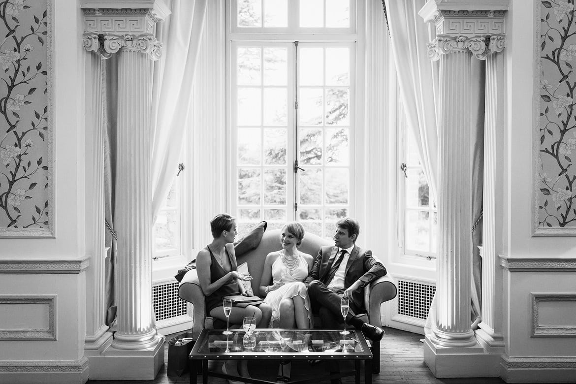 guests chat at hedsor house