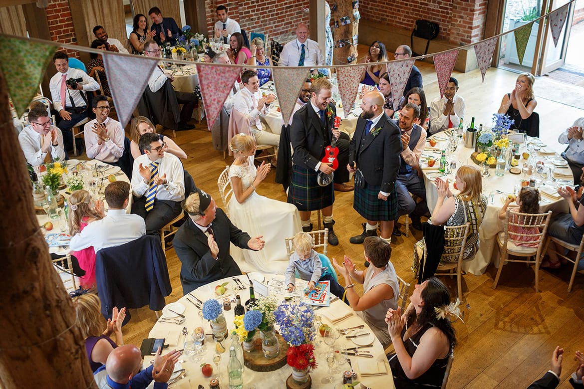 wedding speeches at gaynes park wedding