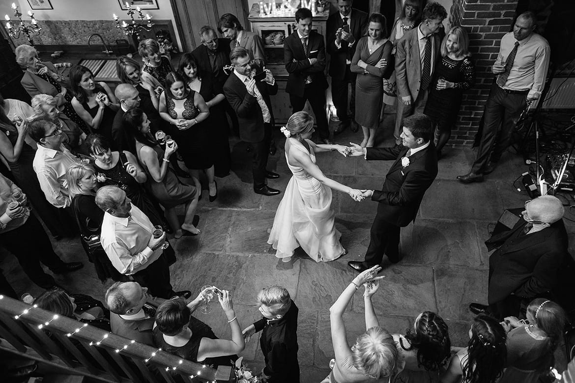 first dance at a chaucer barn wedding