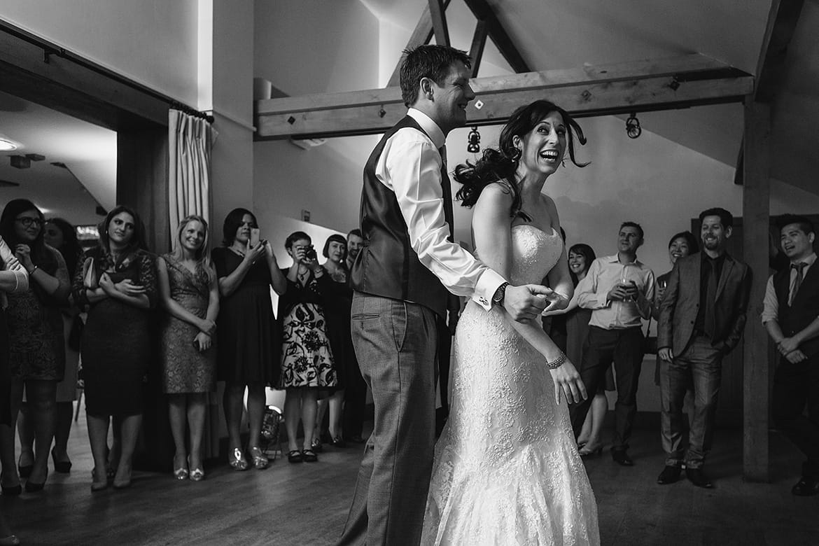 first dance at a gaynes park wedding