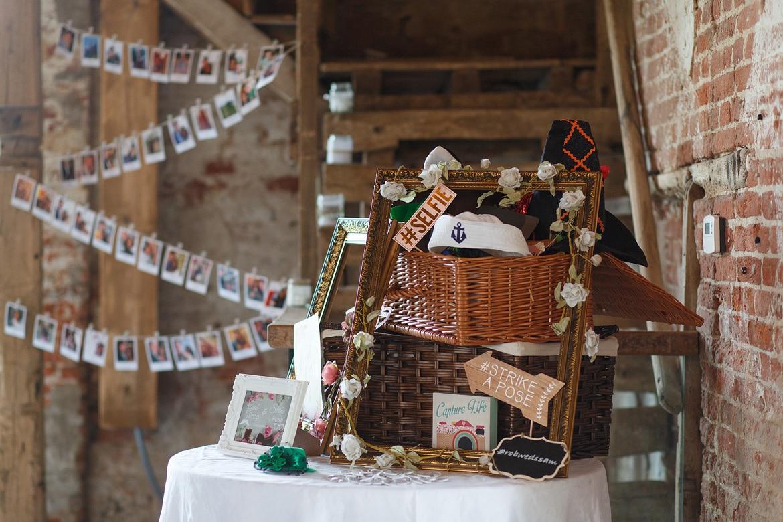 wedding details inside godwick barn