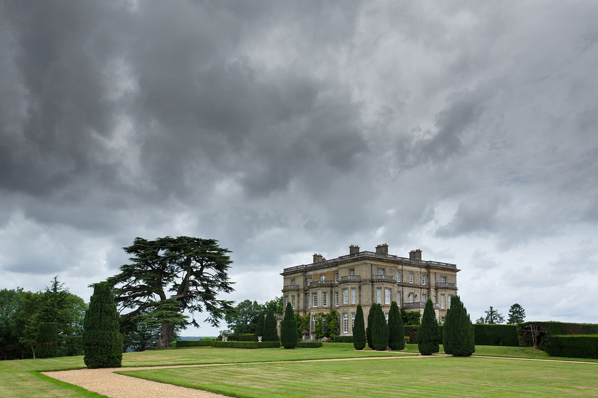 hedsor house on a stormy day
