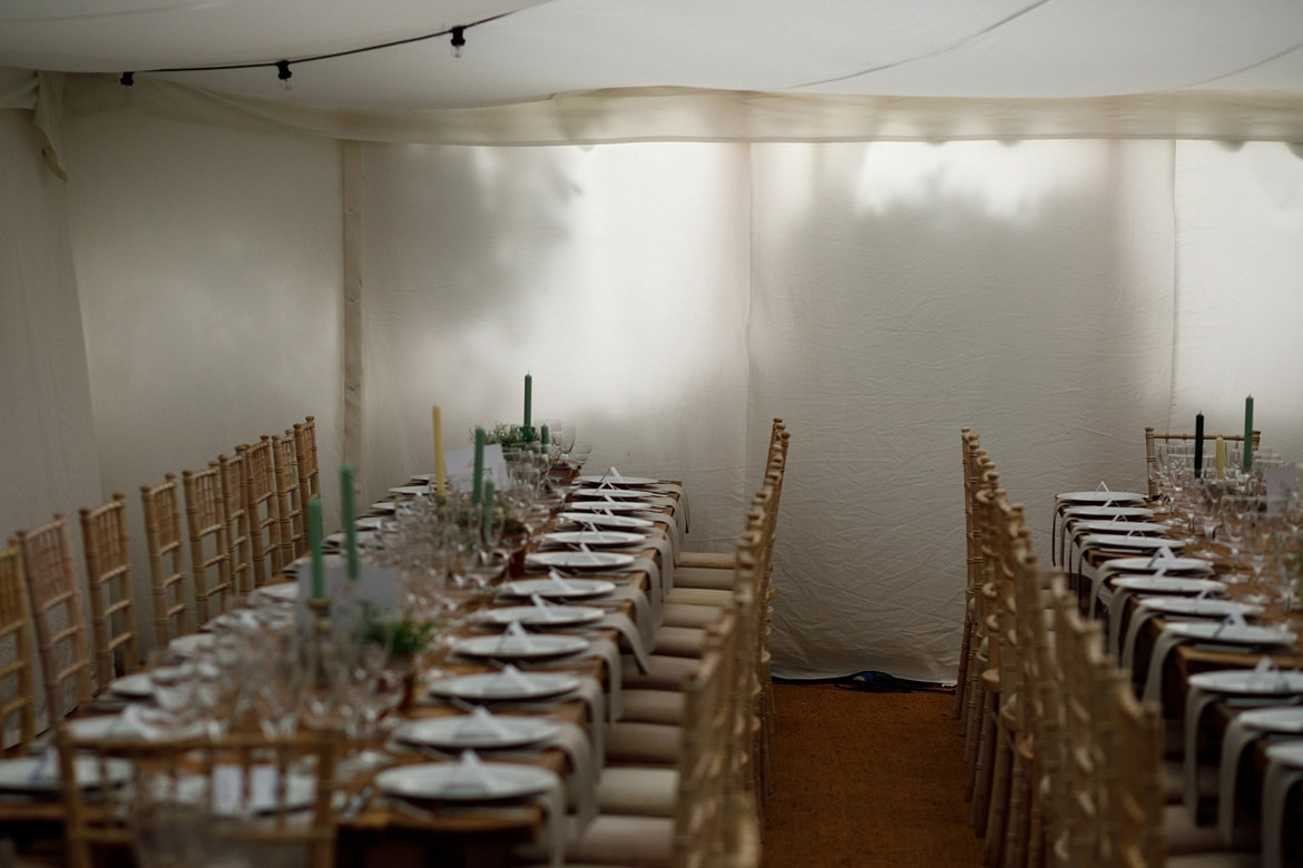 shadows cast on the wall of a wedding marquee in norfolk