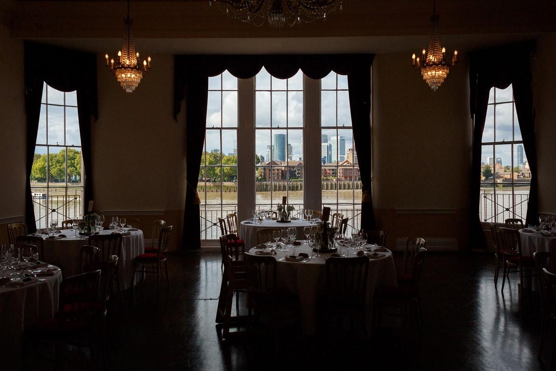 the dining room at trafalgar tavern