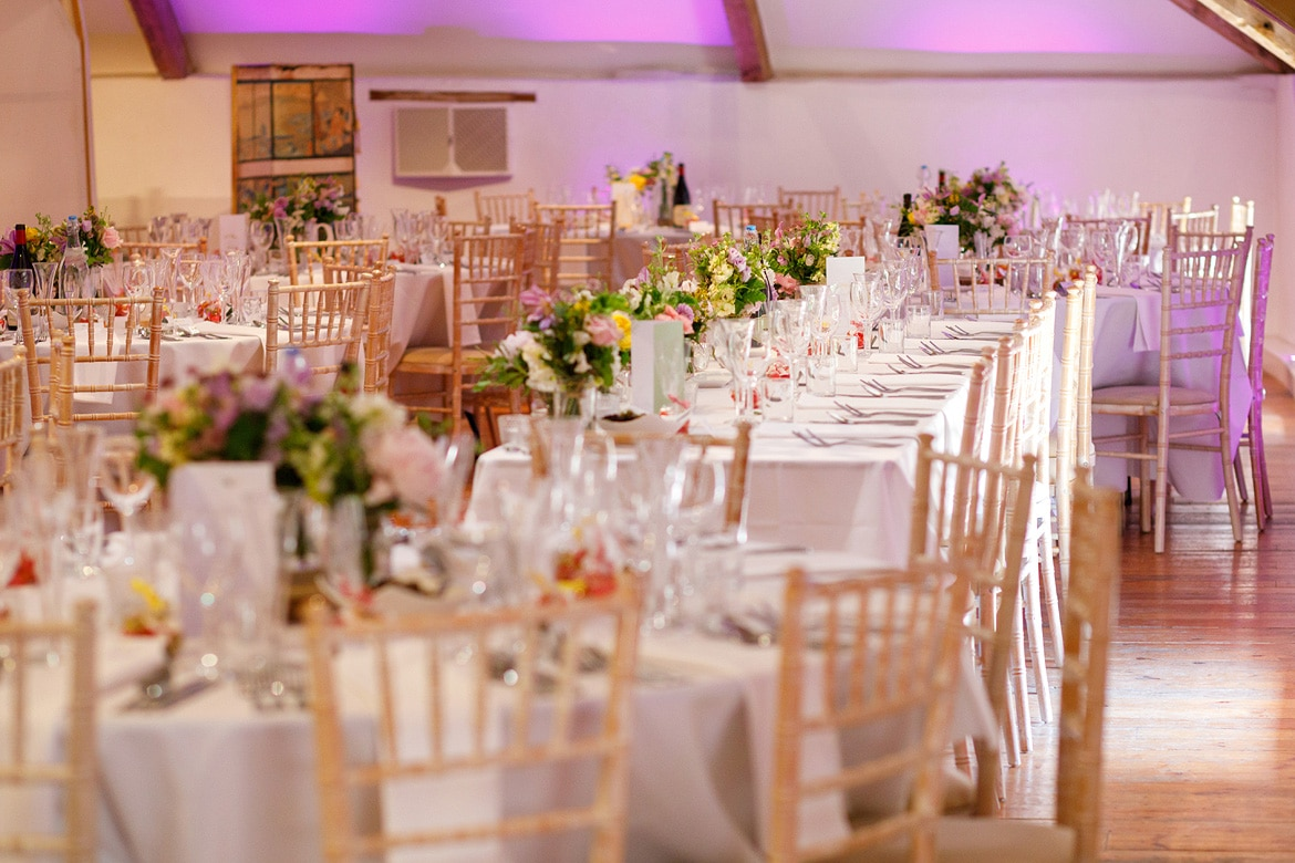 the dining room at a pennard house wedding