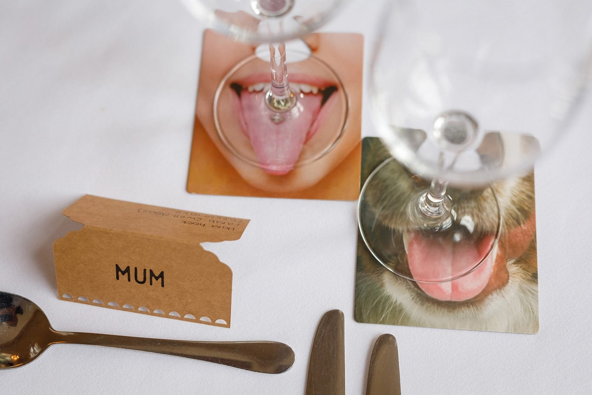 place settings on a wedding day
