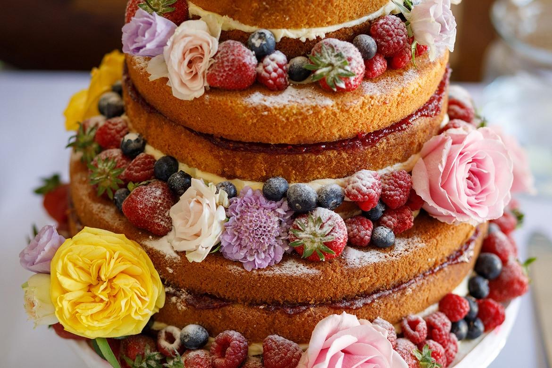 wedding cake detail photo